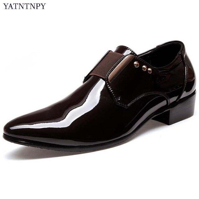 YATNTNPY Marke Männer Schuhe Mode Kleid schuhe Spitz Leder Schuhe ...