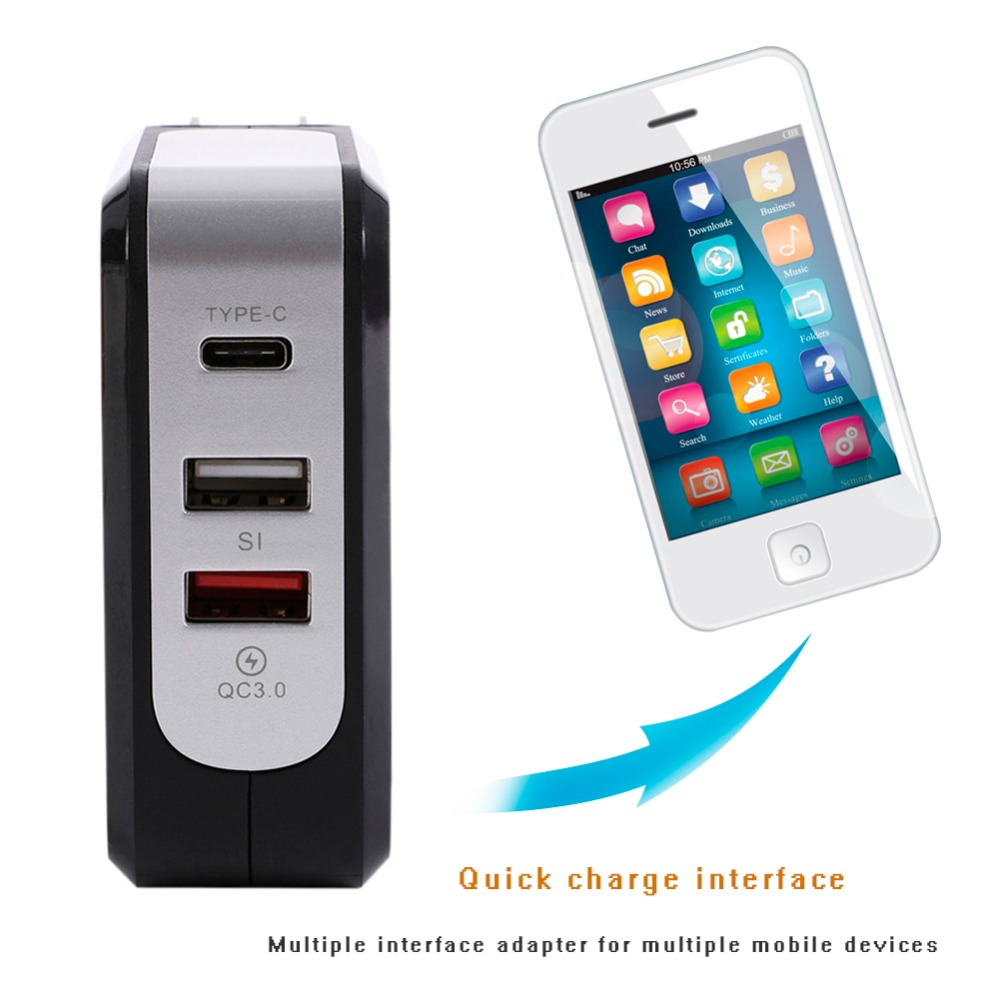 Быстрый Fast Зарядное устройство QC 3,0 43 W Двойной Тип usb-C Smart стене Зарядное устройство s для Macbook iPhone X/8 samsung Galaxy S8 для IOS Android