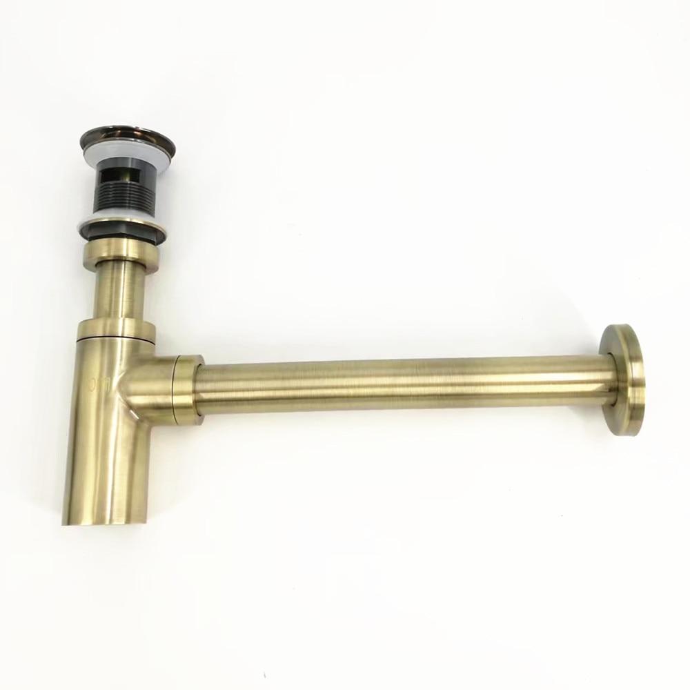 Antique Bronze P Trap Old Style Vintage Brass Bottle Trap