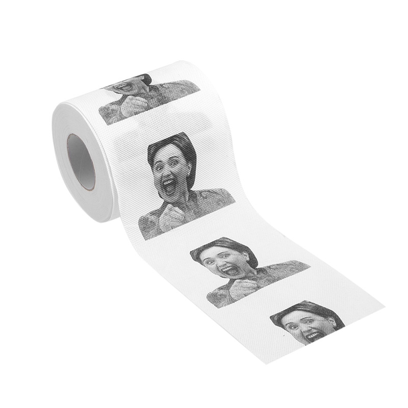 Hillary Clinton Donald Trump Dollar Humour Toilet Paper Gift Dump Funny Gag Roll  T32