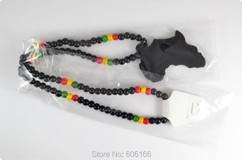 Бесконечная черная Африка Карта хорошего дерева NYC X Chase ожерелье из деревянных бусин хип-хоп ювелирные изделия