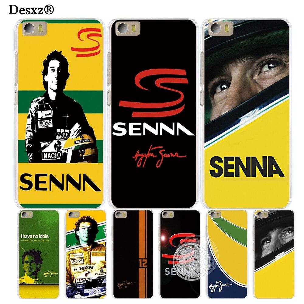 Desxz Ayrton Senna Cover phone Case for Xiaomi M Mi 3 4 5 5S 5C 5X 6 Mi3 Mi4 4S 4I 4C Mi5 Mi6 NOTE MAX