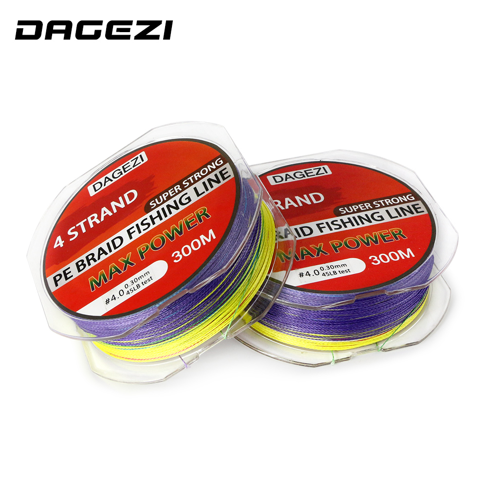 Aliexpress.com : Buy DAGEZI Super Strong 4 strand 300M 100% PE ...
