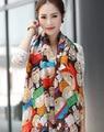 30 estilos de verano playa cuidados moda niña de seda mujeres bufanda del mantón largo del abrigo scaves de las nuevas mujeres chal de gasa de 1 unids/lote SW52