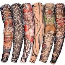 Грелка для рук унисекс быстросохнущая Защита от УФ-лучей на открытом воздухе Временная поддельная бегущая рука рукав кожа протеив нейлоновый с имитацией татуировки рукава чулки