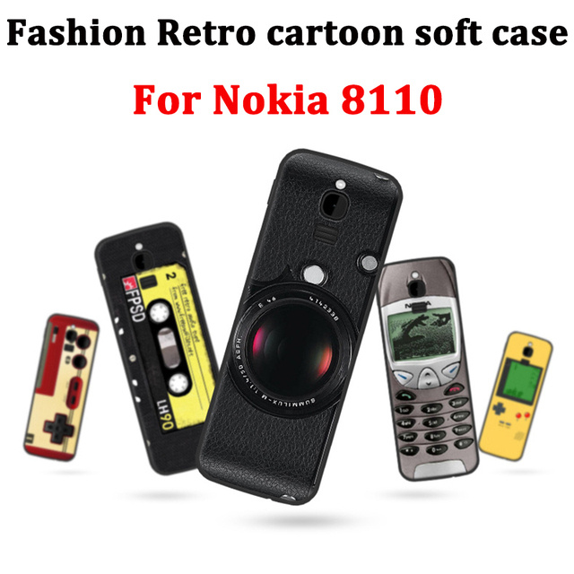 new product a2f29 67816 2.4inch For Nokia 8110 Case Cover retro cartoon soft Case Nokia8110 Back  Cover For Nokia TA-1059 Phone Cases coque skin shell