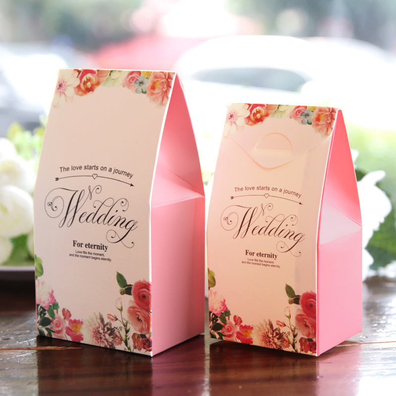 Cheap Return Gifts For Wedding: 10pcs/lot Chocolate Candy Bar Wedding Favor Candy Box
