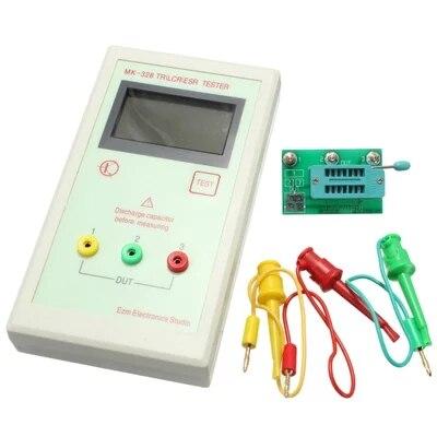 Portable MK328 128 64 LCD Transistor Tester Diode Inductance Capacitance ESR Meter MOS PNP NPN L