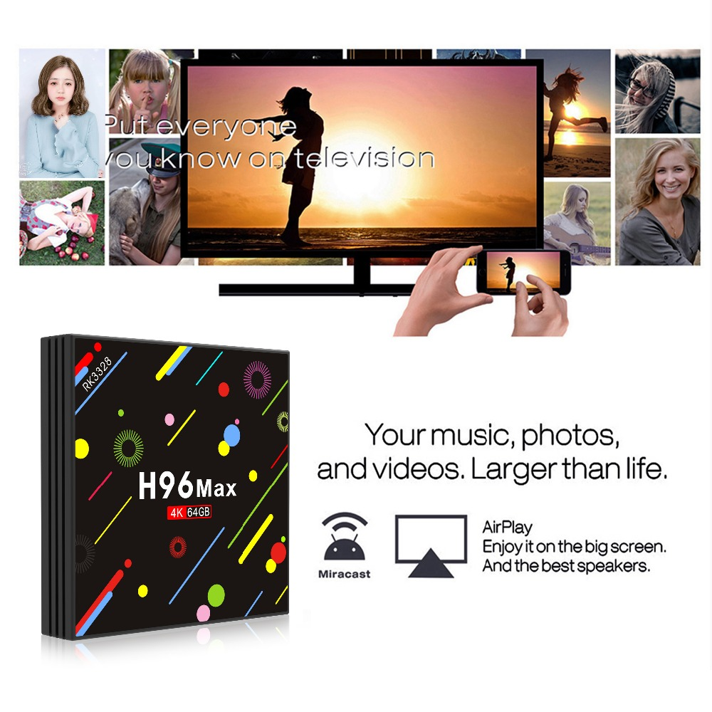 08 H96 MAX 4G 64G RK328 TV BOX-Miracast