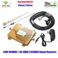 Полный Набор 2 Г GSM 3 Г Ретранслятор, Dual Band 65dbi Усилитель Мобильного Сигнала 3 Г WCDMA GSM Усилитель GSM 900 МГц/3 Г 2100 МГц Усилитель