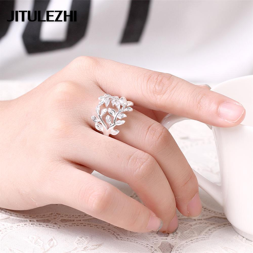 silver plated jewelry women\'s rings bijoux Cute bague femme anillos ...