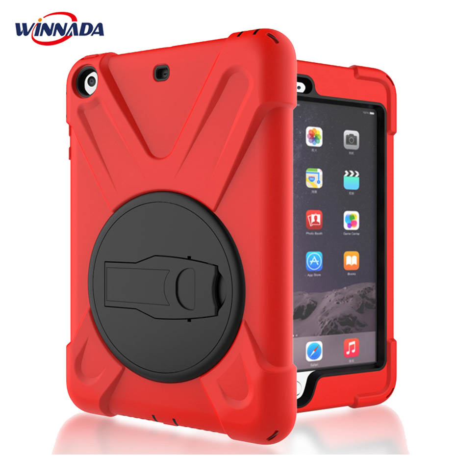 Case for iPad mini 1 2 3 hand-held Shock Proof full body cover Handle stand sleeve for ipad mini case capa funda lt 5t full metal full hard oxygen treatment combination shock absorber leakage proof 4 pcs