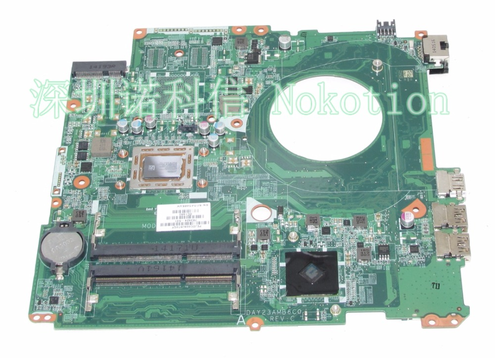 NOKOTION Original 763424-501 763424-001 laptop motherboard For HP Pavilion 17-F DAY23AMB6C0 A10-5745M Mainboard full test works 763424 501 day23amb6c0 y23a fit for hp pavilion 17 17 f motherboard a10 5745m cpu all functions 100