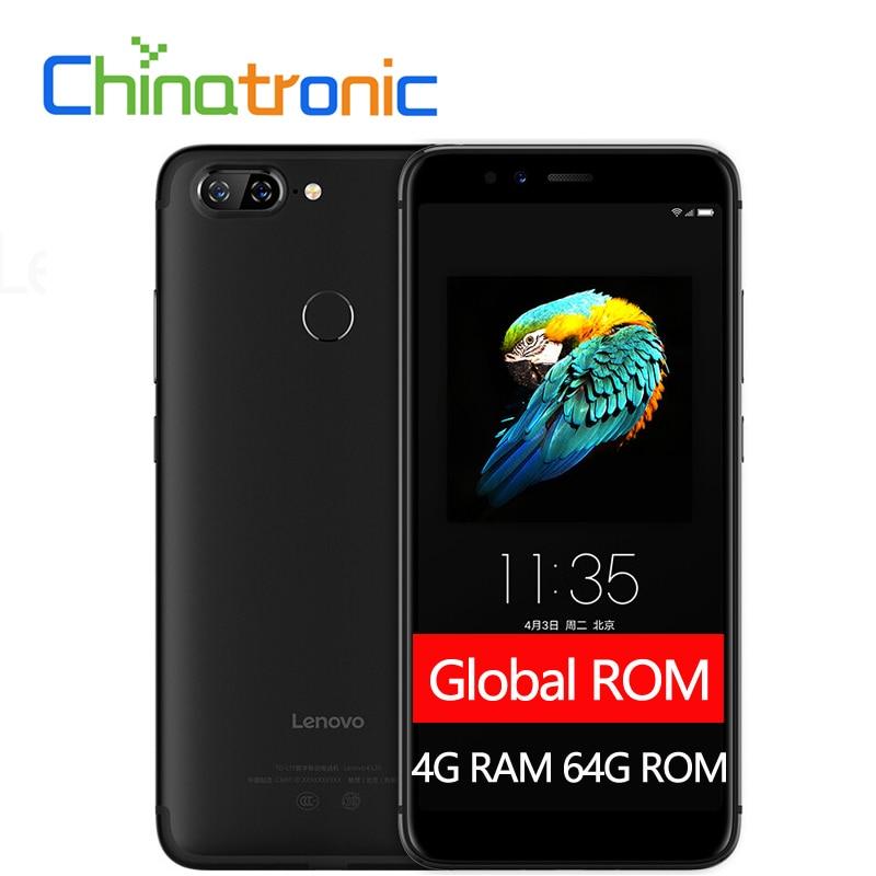 """Глобальный Lenovo S5 K520 metalbody Зуй 3,7 4G LTE 5,7 """"QHD 18:9 мобильный телефон Snapdragon Восьмиядерный 4G RAM 64g ROM Две задних камеры"""