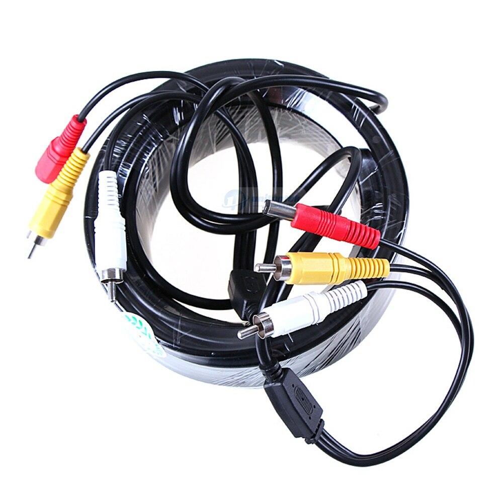 5 м/10 м/15 м/20 м кабель видеонаблюдения RCA CCTV камера Видео Аудио AV кабель питания для камеры наблюдения DVR система