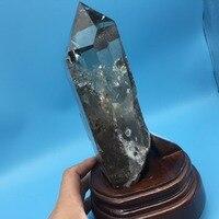 1.9 кг Природный кварцевый камень и полированной ИСЦЕЛЕНИЕ одной точке коричневый минералов палочка Винтаж Домашний Декор Рождество Украше
