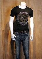 סיטונאי עיצוב יהלומי יוקרה גברים גברים חולצות אופנה חולצת טי צמרות כותנה חולצות t מותג tees מצחיק DH5563