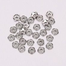 100pcs/Lot 6 mm 5 Petals Relief Flower Loose Sparer End Bead Caps For Jewelry Making Finding DIY Bracelet Accessories Component стоимость