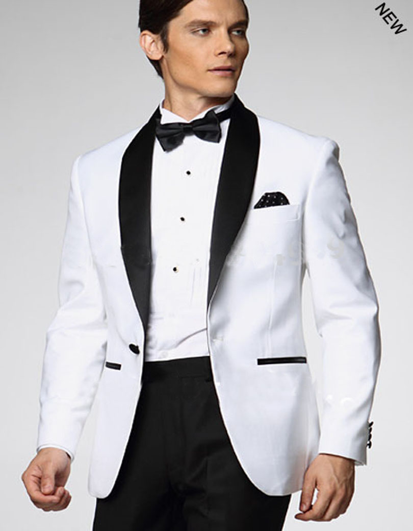 Wear Ties with Your Tuxedo Jacket: With white tuxedo jackets, you may choose to wear a colorful bow tie, a clip on tie or a classic long tie. For parties, balls and white-tie .