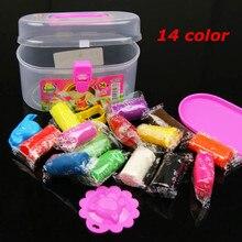 Colorful играть тесто / мэджик кукуруза / пластилин, Глупые замазка для дети, Дети в игрушки, 14 цвет / piece