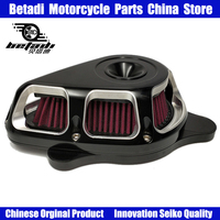 Motorcycle Air Filter Moto Air Cleaner For Harley Sportster XL 883 1200 Dyna Fat Bob Softail Heritage Touring Road King 00 18