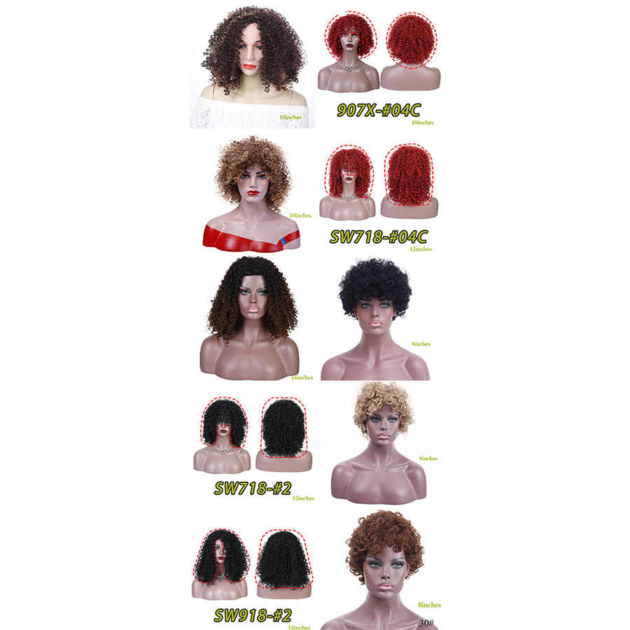 MUMUPI Косплей парики популярные цвета афро короткие кудрявые волнистые шиньоны короткие светлые/коричневые замена волос парики для модных женщин