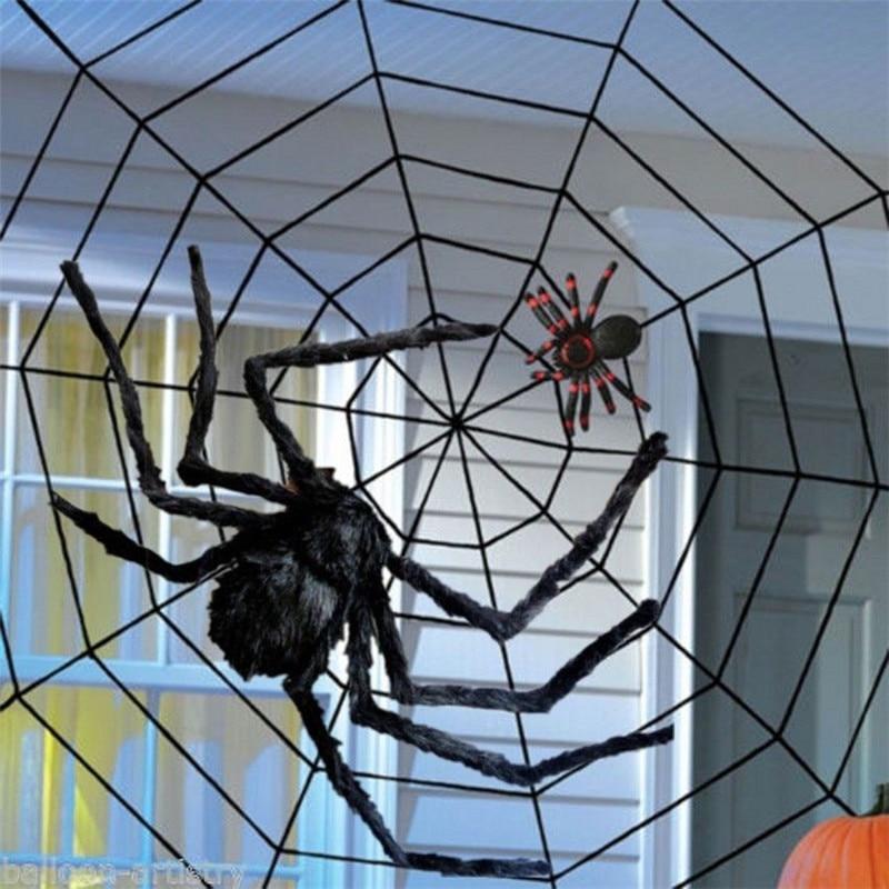 Black Widow Giant Spider Web 1.5m For Halloween Indoor ...