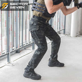 Sector Seven Military Multi Pockets Cargo Pants Dark Camouflage Regular Tactical Pants Active Men's Trousers - DISCOUNT ITEM  46% OFF All Category