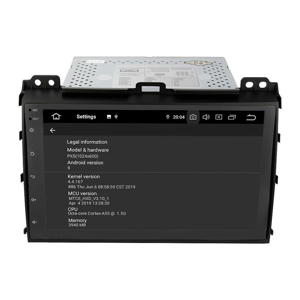 """EKIY 9 """"IPS 2 Din Android 9,0 coche reproductor Multimedia Autoradio DVD para Toyota Prado 120 Land Cruiser navegación GPS grabadora de cinta"""