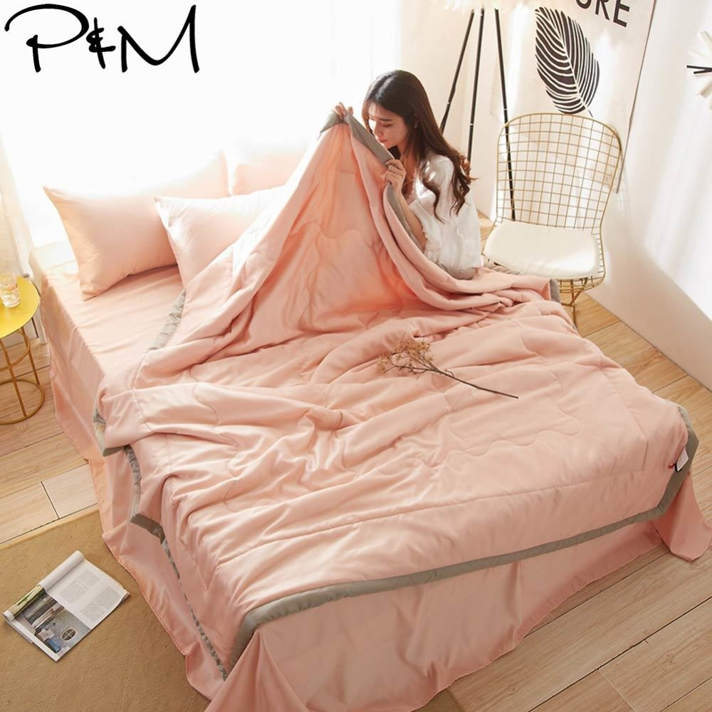 2019 Light Salmon Quilting Quilt Set Satin Polyester Fabric Polyester Twin Queen Size Summer Comforter Bedsheet Pillowcases2019 Light Salmon Quilting Quilt Set Satin Polyester Fabric Polyester Twin Queen Size Summer Comforter Bedsheet Pillowcases