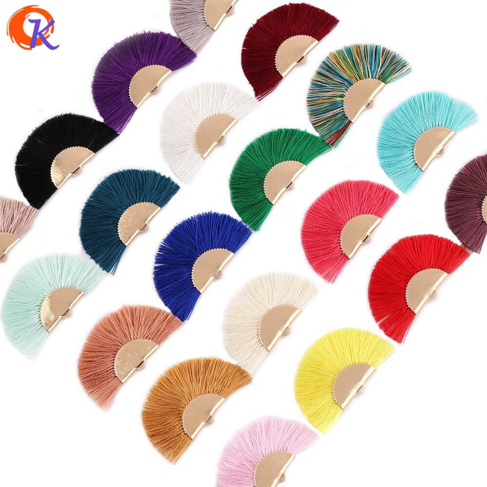 Cordial Design 2Pcs/Bag 4.5CM Fan Tassel/Gold Tassels/Jewelry Accessories/Jewelry Making/Jewelry Findings/Hand Made/Silk Tassels
