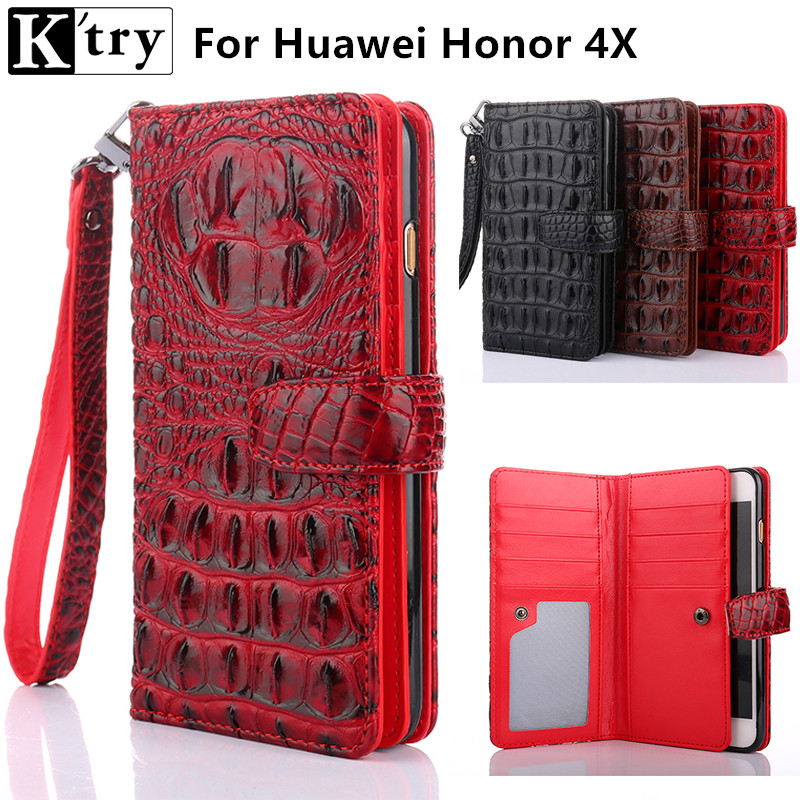 K'try For Huawei Honor 4X case cover luxury leather flip Phone Bags for Huawei Honor 4X Business wallet Phone Bags