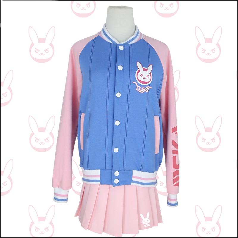 OW DVA casual baseball jacket Cosplay Costume Halloween costume