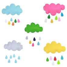 Прекрасный Мультфильм Облако капля дождя Декор кукла мягкая