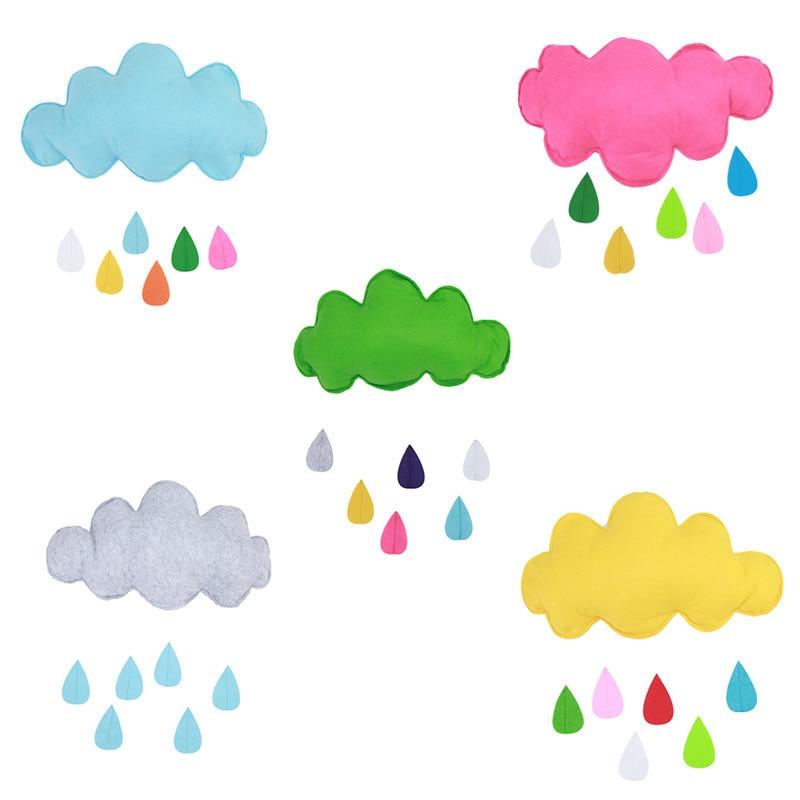 Lovely Cloud Cartoon Raidrop Decor Doll perna perna fete fete - Jucării moi și plușate