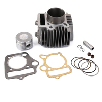 52.4mm Cylinder Head Assembly with Gaskets Pistons Set for 110cc Engines ATV Quad Dirt Bike Go Kart