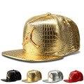 O novo plano-Crocodile Grain liga diamante Tide marca de aba larga do chapéu hiphop boné de beisebol cap hop chapéu atacado