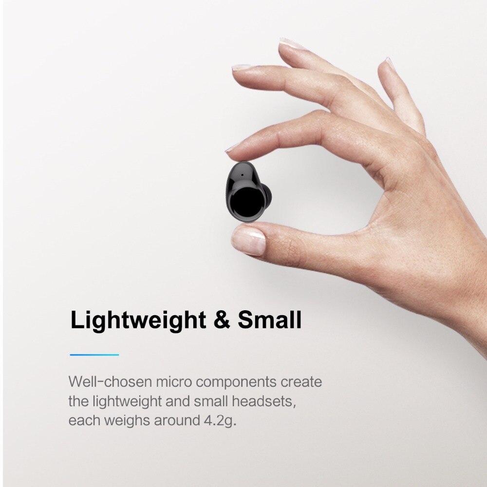 ROCK Mini TWS Vrai bluetooth sans fil Écouteurs Stéréo casque de sport Avec Boîte De Charge Micro Intra-auriculaires Pour iPhone XS MAX Xiaomi - 2