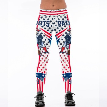 Unisex Football Team Patriot 99 Print Tight Pants Workout Gym Training Running Yoga Sport Fitness Exercise Leggings Dropshipping