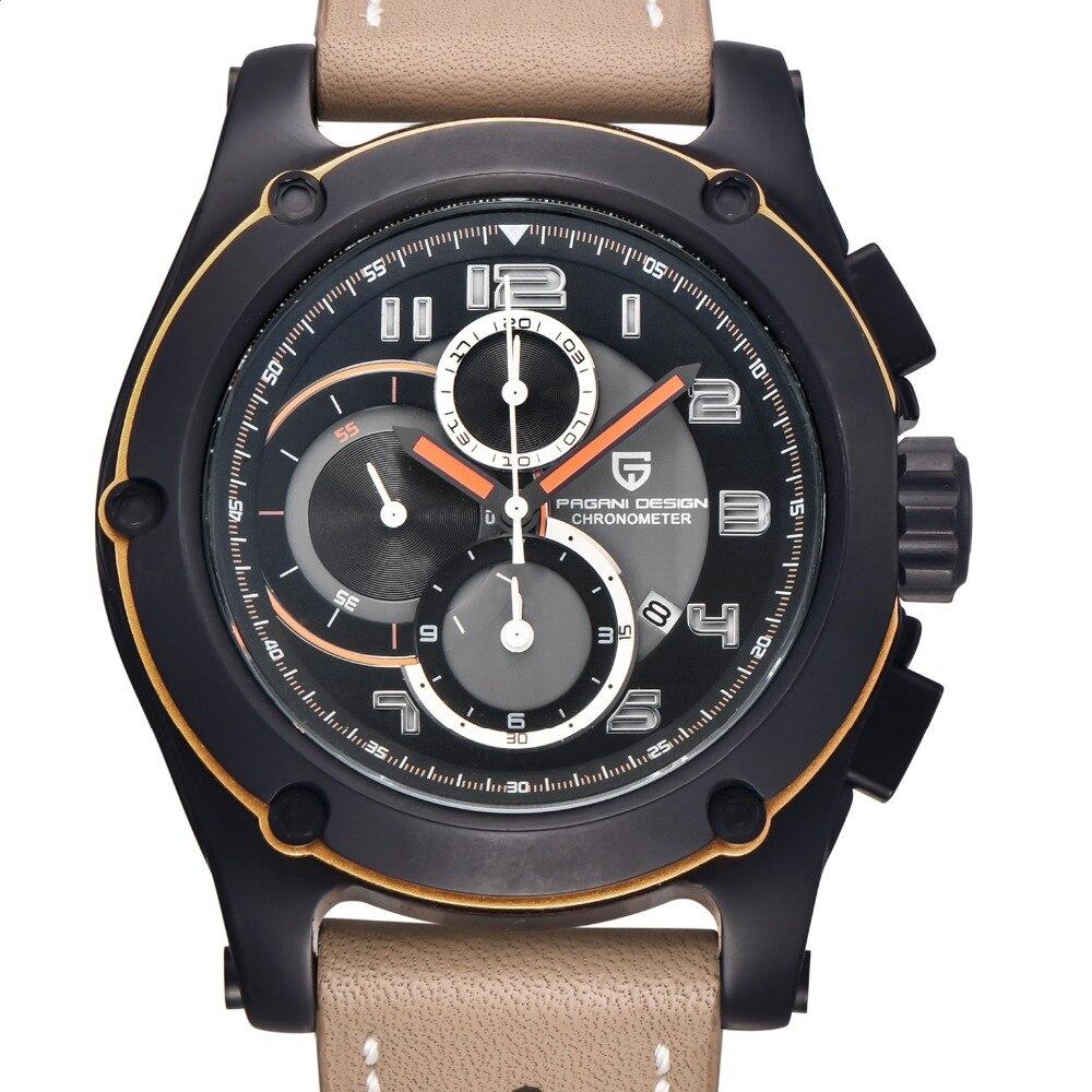 ФОТО PAGANI DESIGN Multi-functional chronograph Sports Watch Men Luxury Brand waterproof Military Quartz Watches Relogio Masculino