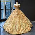 New Extremely High end Luxury Sleeveless Arabic Golden Evening Dresses Heavy Beading Satin Flowers Train Evening Gown Prom Dress