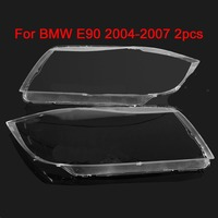 1 Pair Left Right Front Headlight Lens Cover For E90 318 320i 325i 330i 2004 2005