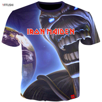 YFFUSHI 2018 High End Products Male 3d T Shirt Summer Hot Sale Cool Tops Iron Maiden