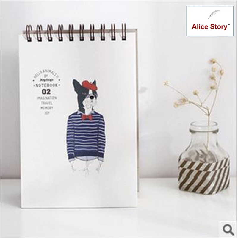 Cute creative sketchbook animal cool sketch drawing professional  high quality thick paper notebook diary journal middle