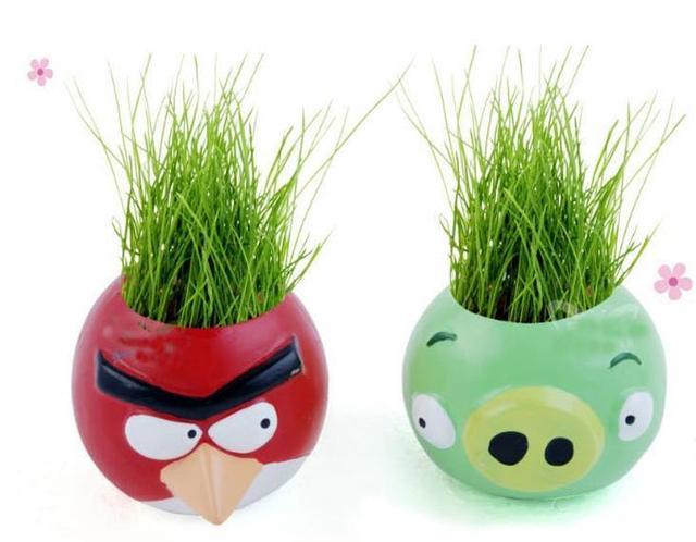Beautifying Office Bonsai Grass Pots Planters Mini Desktop Plants ...