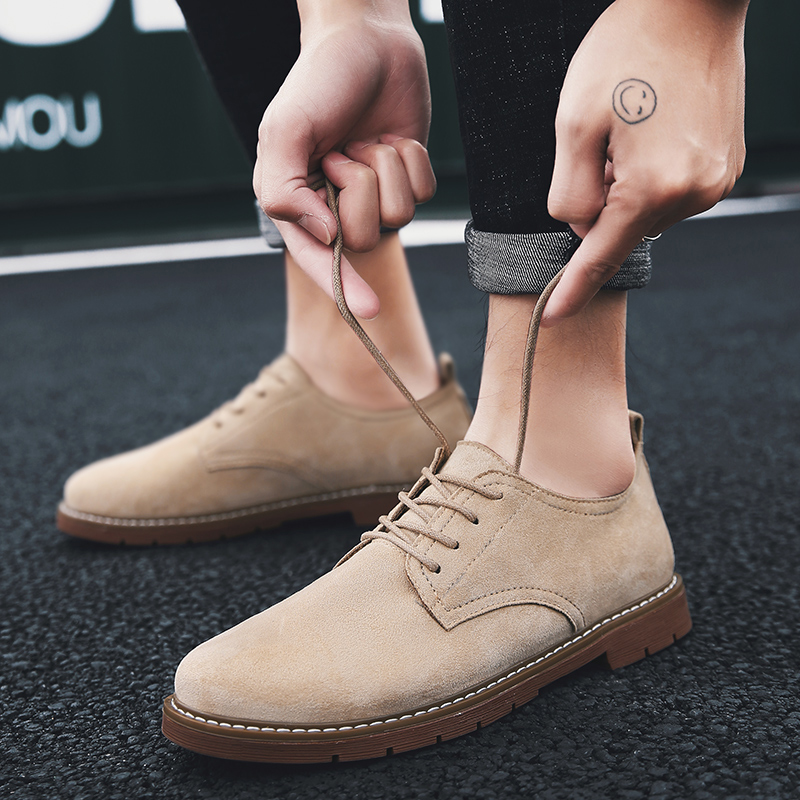 2019 Fashion Men casual Shoes   suede     leather   New Spring Men Flats Lace Up Male Oxfords Men   Leather   Shoes Zapatillas Hombre p4
