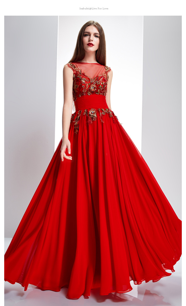 vestido de renda party prom sexy appliques free shipping robe de soiree 2018 new style red long Formal gown   bridesmaid     dresses