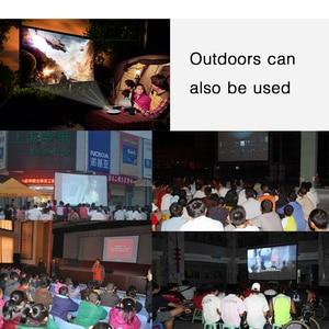Image 5 - BYINTEK 100 cal biały matowy pcv miękkie składane HD 1080P projektor kina domowego wideo ekran 16:9 z otworami