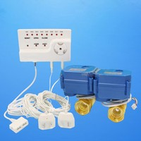 Smart Home Water Water Leakage Detection Alarms System with Two Motorized Valve DN15 DN20 DN25 Leakage Sensor Alarm