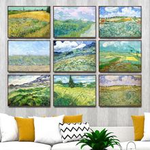 Home Decoration Art Wall Pictures Fro Living Room Poster Print Canvas Paintings Netherlandish Vincent van Gogh Green Wheat Field